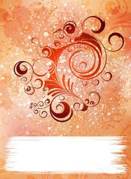 Colorful Grungy Background with Swirls