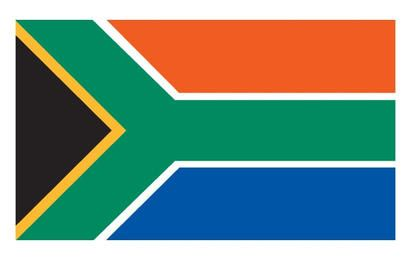 Sul Vector bandeira Africano