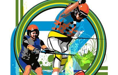 Esquiadores de agua
