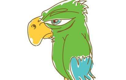 Parrot Cartoon Vector