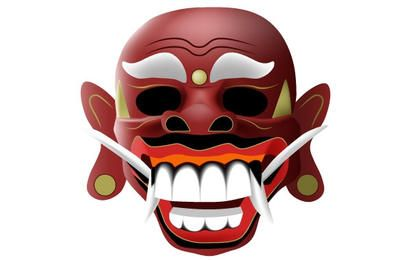 máscara balinesa tradicional