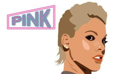 Ilustração rosa