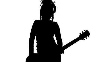 Girl Rocker Silhouette