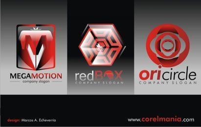 Pacote de modelo de logotipo vermelho