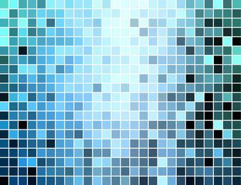Blue Square Mosaic Tiles Background