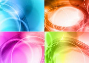 Curvas brillantes abstractas paquete de colores de fondo