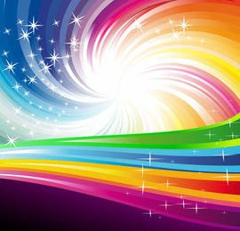 Rainbow Vortex Background with Swirling Lines