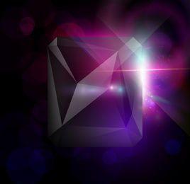 Fondo cristalizado moderno de neón resplandor