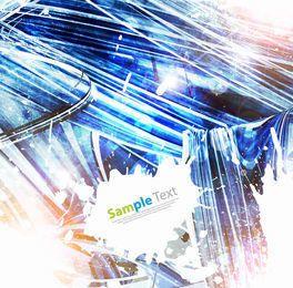 Abstrakter kristallisierter Grunge Hintergrund