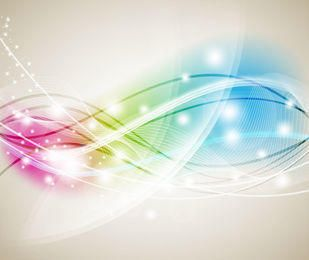 Glowing Colorful Background with Wavy Lines