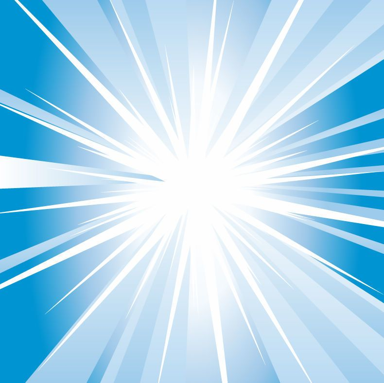Shiny Swirling Blue Starburst Background - Vector download