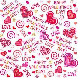Hand Drawn Valentine Pattern