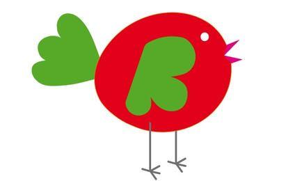 Rot gezeichnetes Huhn