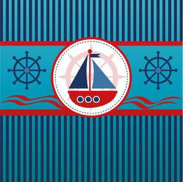 Velero fondo de líneas azules