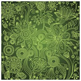 Hand Drawn Linen Seamless Floral Pattern