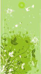 Banner Floristic verde com manchas sujas
