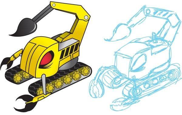 Scorpion machine illustration