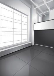 Detalhe brilhante 3D espaço interior elegante em branco