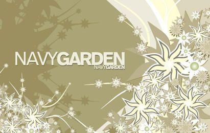 Composición de vectores gratis Navy Garden