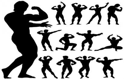 Body Building Silhouettes
