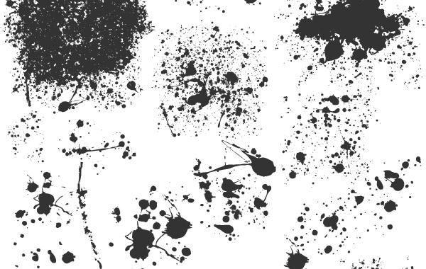 Paint Splatter Brushes Illustrator Cs