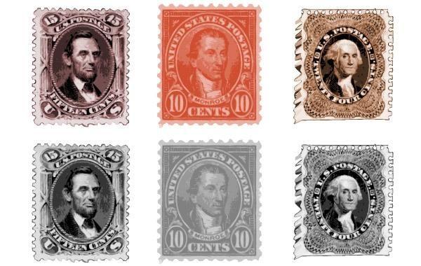 Antiguo sello de vectores