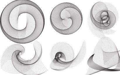 Ellipsograph spiral vectors