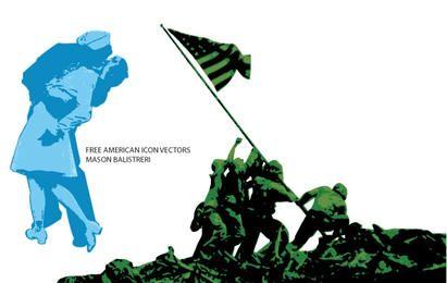 Ícones americanos, Free Vectors