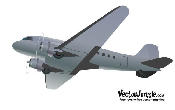 free retro styled vector airplane vector download