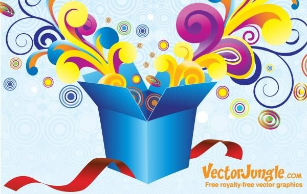 FREE VECTOR GROOVY GIFT BOX  sc 1 st  Vexels & FREE VECTOR GROOVY GIFT BOX - Vector download Aboutintivar.Com