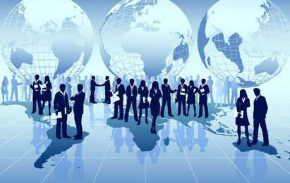 Negocio global alrededor del mundo.