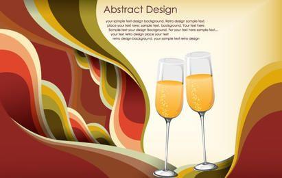 Vector gratis de plantilla abstracta celebración