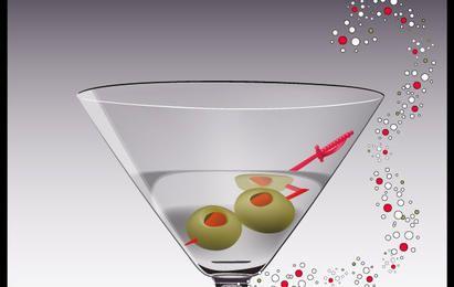 Vector de vidrio martini