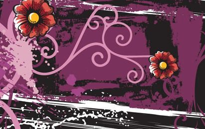 Abstract floral grunge backgrounds