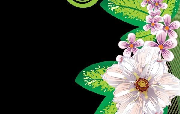 Fundo floral abstrato 3
