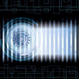Barras azuis de círculo de alta tecnologia abstrata
