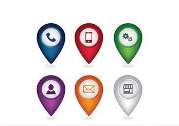 Simplistic Web Icon Pack com ponteiro de localização