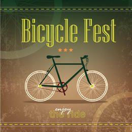 Plantilla de póster retro de bicicleta grungy