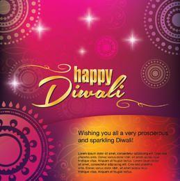 Decoración feliz de la tarjeta de felicitación de Diwali