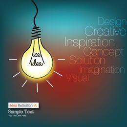Funky Idea Bulb Info-graph Background