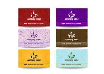 Paquete de tarjetas de visita de la cafetería creativa