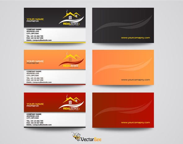 Front back real estate professional business cards vector download front back real estate professional business cards colourmoves