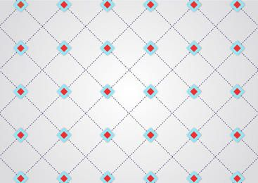 Abstract Dotted Line Geometric Crossing Pattern