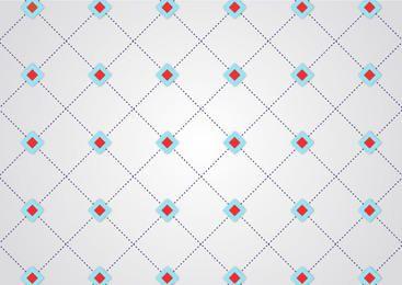 Abstrakte gepunktete Linie geometrische Kreuzung Muster
