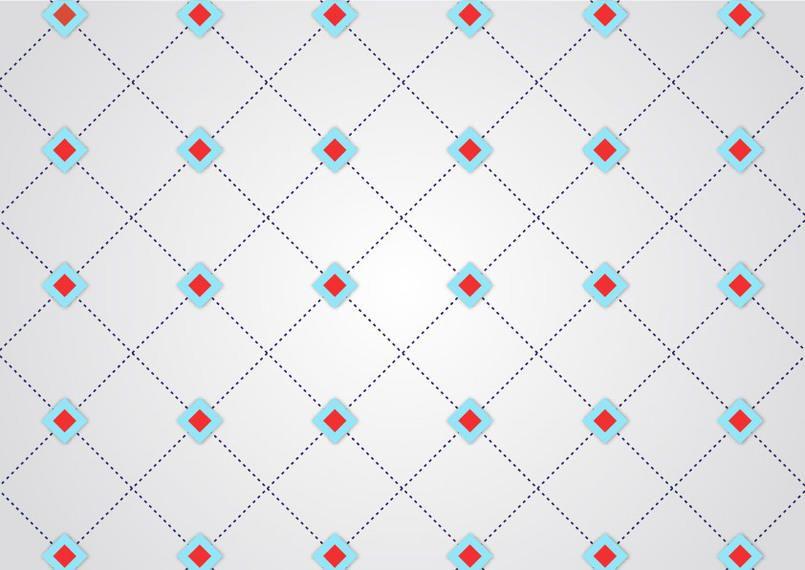 Patrón de cruce geométrico punteado línea abstracta