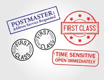First Class Distressed Stamp Pack