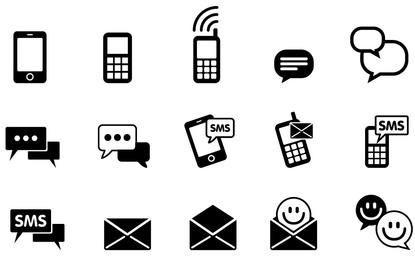 Paquete de iconos IMS y SMS simplista