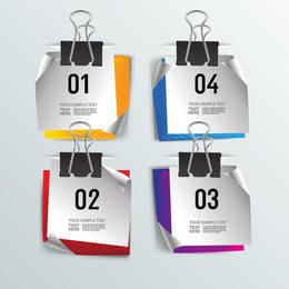 Digital Note Set Hanging on Paperclip