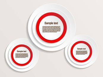 Banner circular criativo e etiqueta