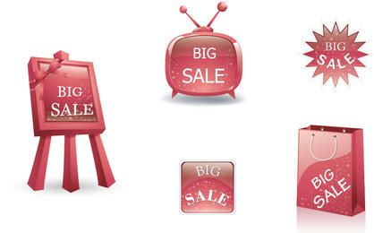 Glossy 3D Big Sale Design Element